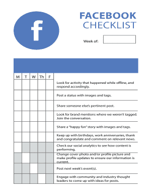 daily landscape checklist - Fillable & Printable Resume