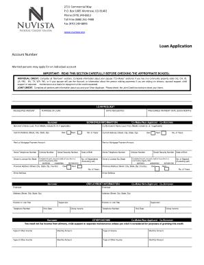 fillable online nuvista consumer loan application nuvista federal