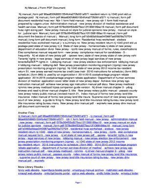 Fillable Online jlefq Nj Manual J Form PDF ...