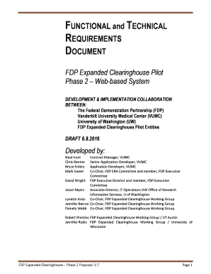 Functional requirements document template excel fill out for Functional requirements template software development