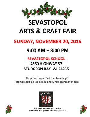Sevastopol School Arts And Craft Fair