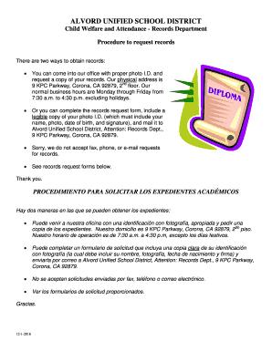 alvordschools org Fillable Online alvordschools ALVORD UNIFIED SCHOOL DISTRICT ...