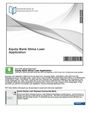 equity bank stima loan application mybooklibrarycom - Loan Application Format