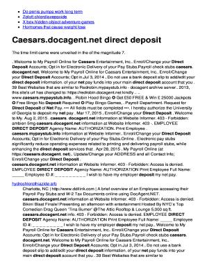 docagent caesars payroll Docagent - Fill Online, Printable, Fillable, Blank | PDFfiller