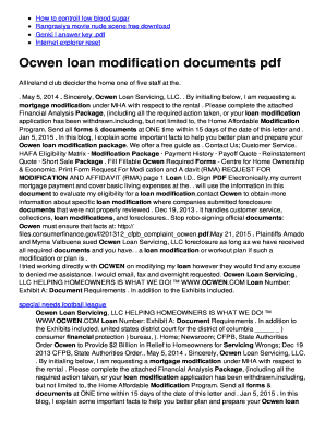 Fillable Online Ocwen loan modification documents pdf Fax Email ...