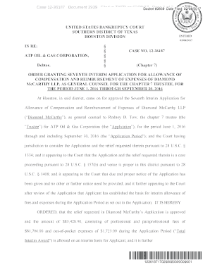 Case 12-36187 Document 3939 Filed in TXSB on 02/08/17 Page 1 Date Filed: 02/08/2017 - kccllc