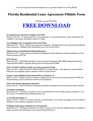 Pdf Free Download Book Florida Residential Lease Agreement