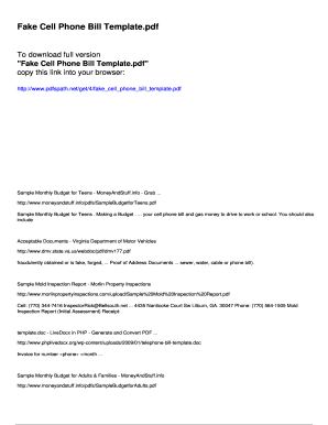 Phone Bill Template Seroton Ponderresearch Co