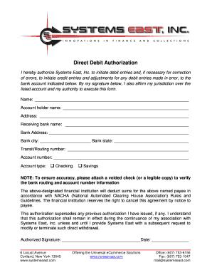 Fillable Online Direct Debit Authorization - info xpress-pay