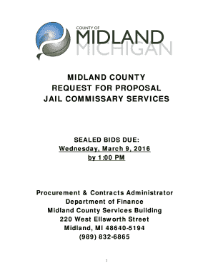 Fillable Online MIDLAND COUNTY REQUEST FOR PROPOSAL JAIL