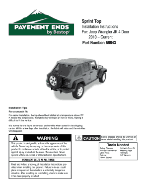 Pavement Ends Soft Hard Tops Installation Instructions. Pavement Ends Soft Hard Tops Installation Instructions
