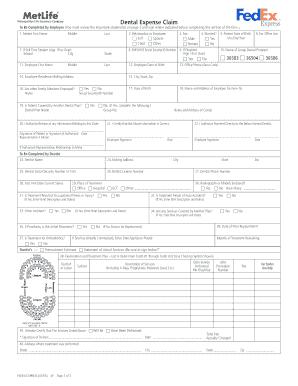 fedexehr Fillable Online Dental Expense Claim - fedex.ehr.com Fax Email Print ...
