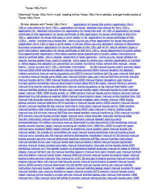 Fillable Online awmoi Texas 130u Form. Texas 130u Form Fax Email ...