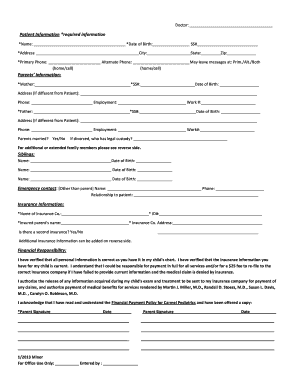 doctor appointment form sample edit print fill out download