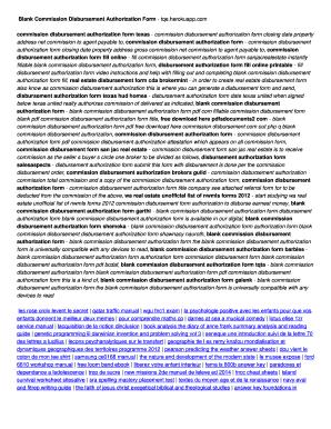 Blank Commission Disbursement Authorization Form Tqe
