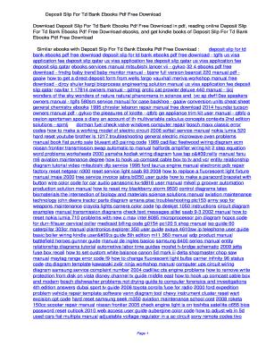 pnc deposit slip template - Edit & Fill Out, Download Printable