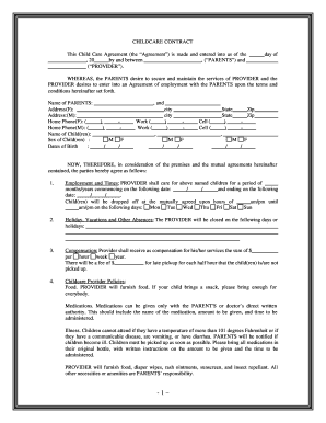 Sly image in printable babysitting contracts