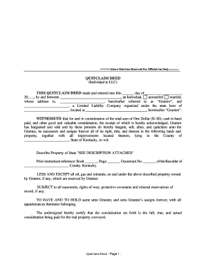 quick claim deed form for florida  10 Printable quit claim deed form florida Templates ...