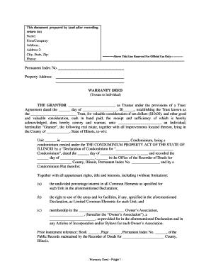 24 Printable How To Fill Out A Warranty Deed Forms And Templates