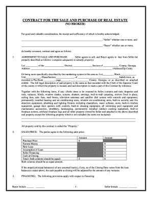 Contract Ga Sales Fill Online Printable Fillable Blank Pdffiller