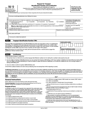 Fillable Online Form W-9 (Rev. August 2013) - Progressive Fax ...