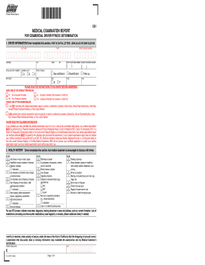 california commercial drivers license medical exam form