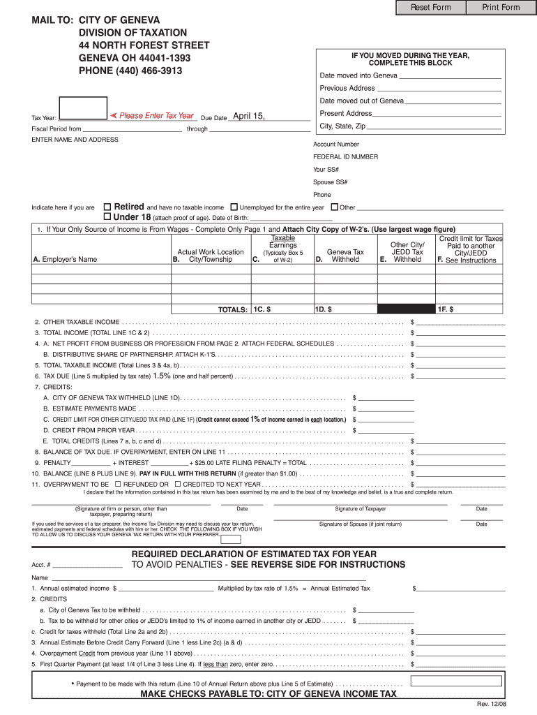 ohio state tax forms online