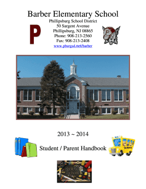 Barber School 2013-2014 Student Handbook - Phillipsburg School bb