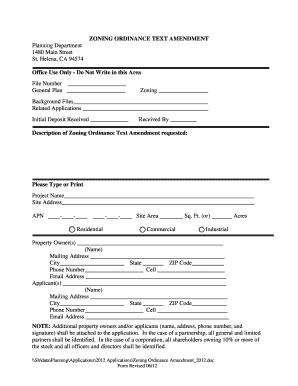 ZONING ORDINANCE TEXT AMENDMENT ... - City of St. Helena