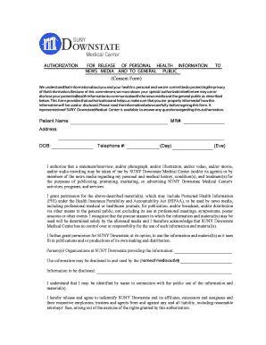 Fillable general media release form - Edit, Print & Download ...