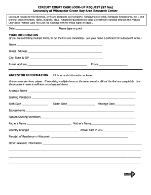 court cases lookup - Edit & Fill Out Online Templates