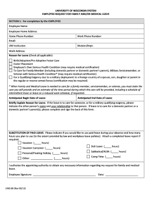Employee Request For Family And/or Medical Leave. Family And Medical Leave  Act Employee  Annual Leave Application Form