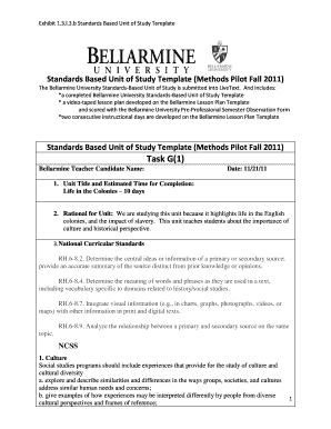 39 best unit plan templates [word, pdf] template lab.