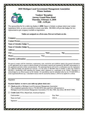 Vendor Registration Form.doc. Free PowerPoint poster templates