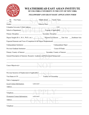 simple application form format Templates - Fillable & Printable