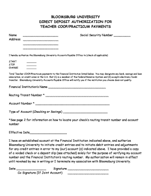 COOP Direct Deposit Form.doc - bloomu