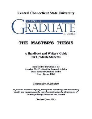 ccsu graduate thesis handbook