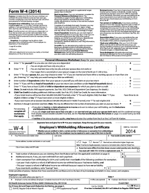 Fillable Online ouhsc 2014 Form W-4 - University of Oklahoma ...