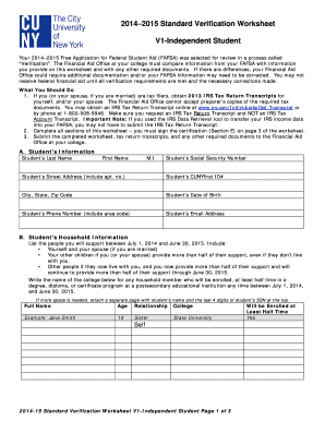 Printables Fafsa Independent Verification Worksheet worksheet fafsa independent verification kerriwaller v1 form fill online printable fillable blank pdffiller related content
