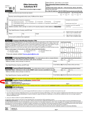 w-9 form ohio  Fillable Online ohio Form W-9 (Rev. August 9) - Ohio ...