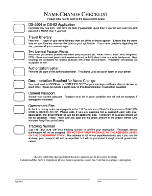 PASSPORT RENEWAL CHECKLIST. This form provides Urgent Passport Services with all the personal information needed to expedite a customer's passport application. Please fill out this order form completely.
