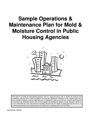 Sample Operations & Maintenance Plan for Mold & Moisture Control ... - morosco