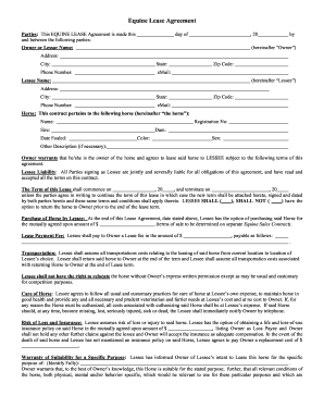 27 Printable Horse Lease Agreement Forms And Templates Fillable