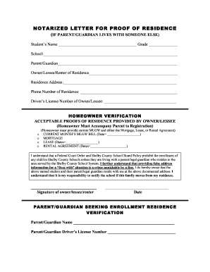 Proof Of Residency Letter Template Pdf - Fill Online, Printable ...