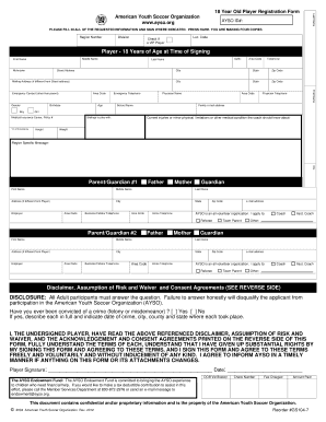 Ayso Soccer Player Application Form - Fill Online, Printable ...