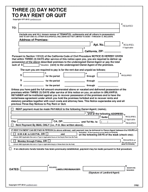 3 day notice to pay or quit forms and templates fillable california 3 notice form pay rent vacate form thecheapjerseys