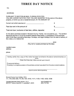 3 day notice to pay rent florida pdf edit fill print download 3 day formbdoc thecheapjerseys Choice Image