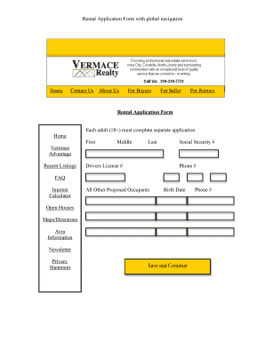 Rental Application Form Design - WordPress.com