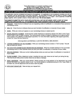 Tdlr Letter Of Certification - Fill Online, Printable, Fillable ...