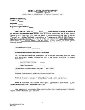 BGenrealb Consultant Contract Template - University System of Georgia - usg